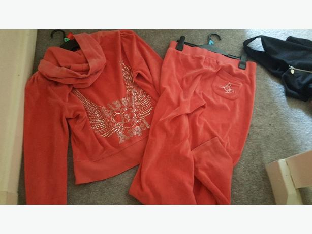 juicy couture size 14 tracksuit colour peach