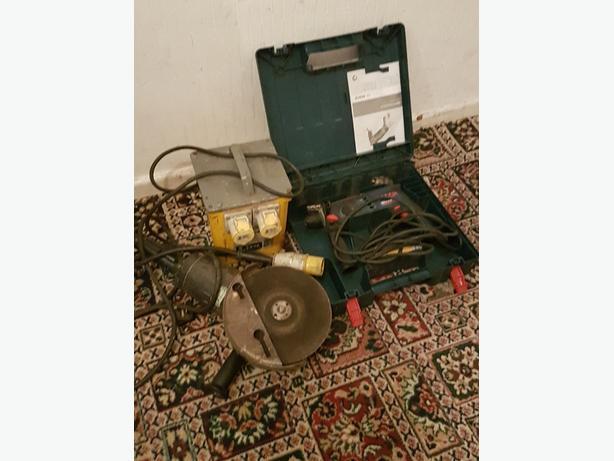 drill, transformer n stone cutter