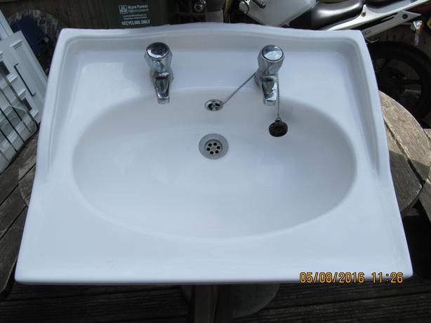 sink white pvc  ideal camper van / caravan / garage