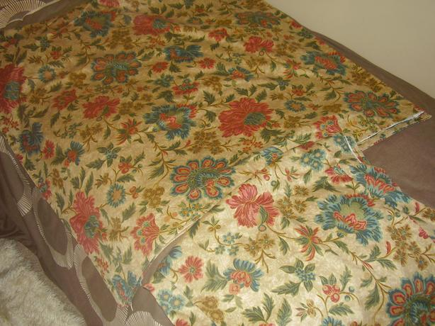 lovely quality heavy ,un lined curtains,browns/flowers