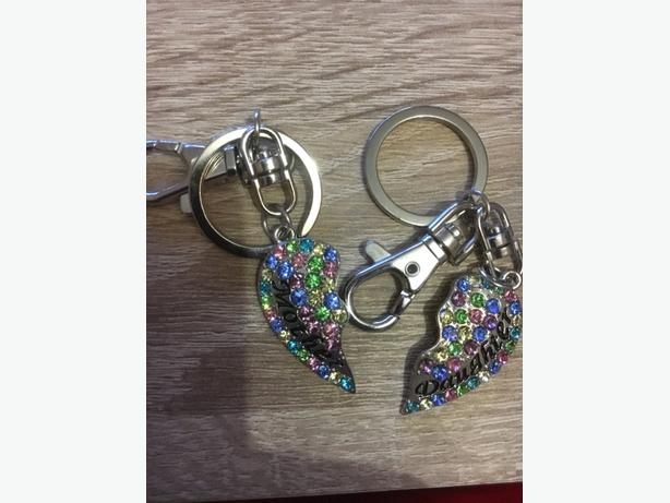 necklace and key rings