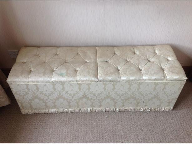 Cream mr & Mrs double ottoman