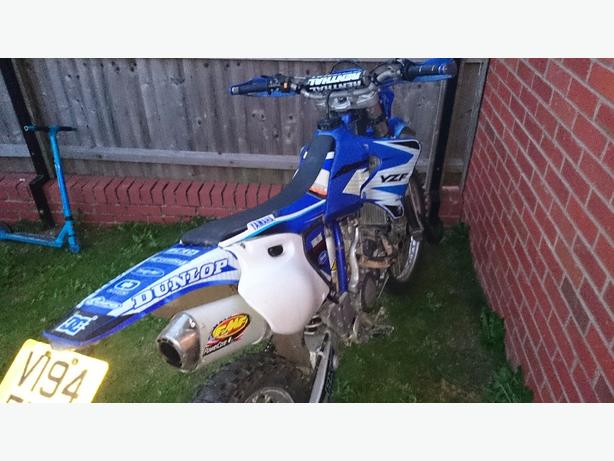 Yamaha yz400f road legal green Lane motocross bike