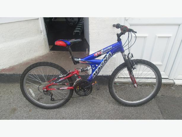 Magna CR heretic dual suspension youths mtb £35