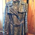 Size 12 Leopard Print Coat