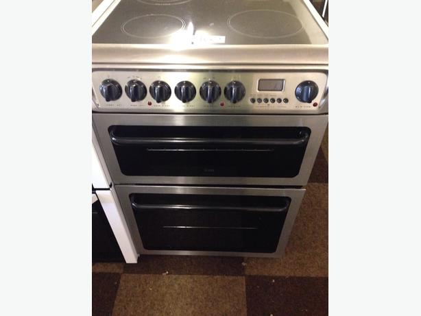 CREDA HOTPOINT DOUBLE OVEN TWIN GRILL ELECTRIC COOKER