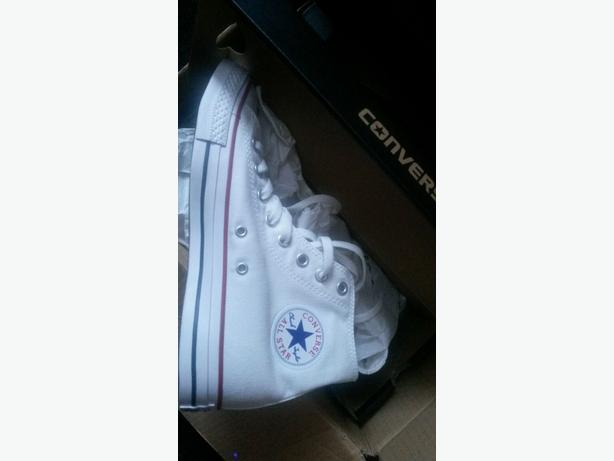 £20!!! NEW!!!! GENUINE White hitop converse size 7
