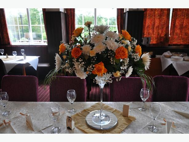 hire our beautiful vases with fresh cut flowers  West Mlds area