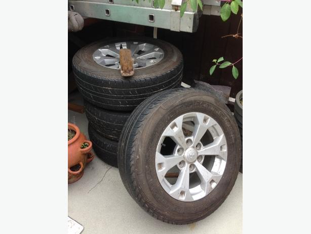 mitsubish warrior orgnial rims and tires