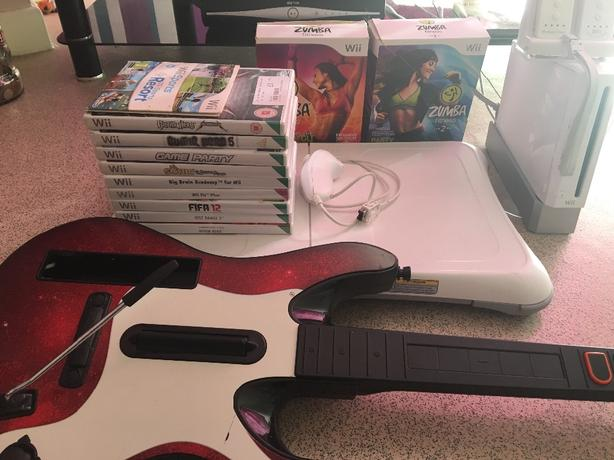 wii wii fit bored and guitar