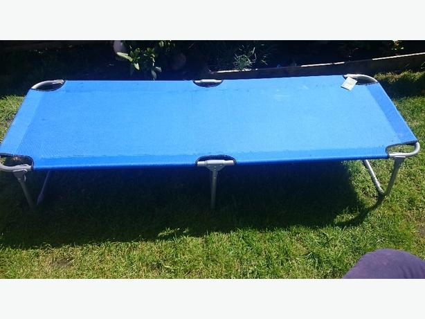 folding steel lounger