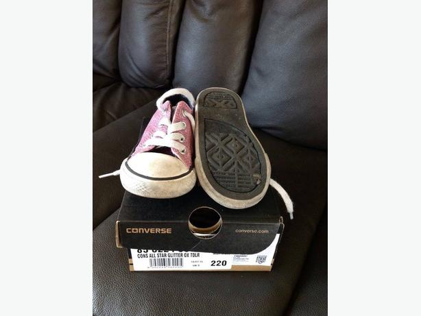 Converse All Star Glitter Pink Size 5