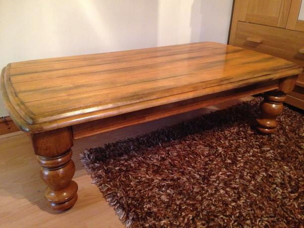 Solid Wood coffee table - beautiful rustic design