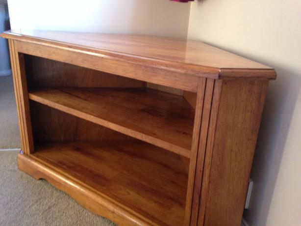 Solid Wood corner TV stand - beautiful rustic design
