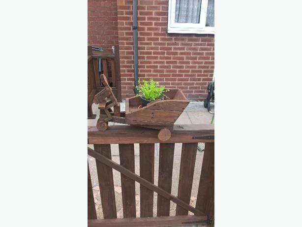 wooden trike planter