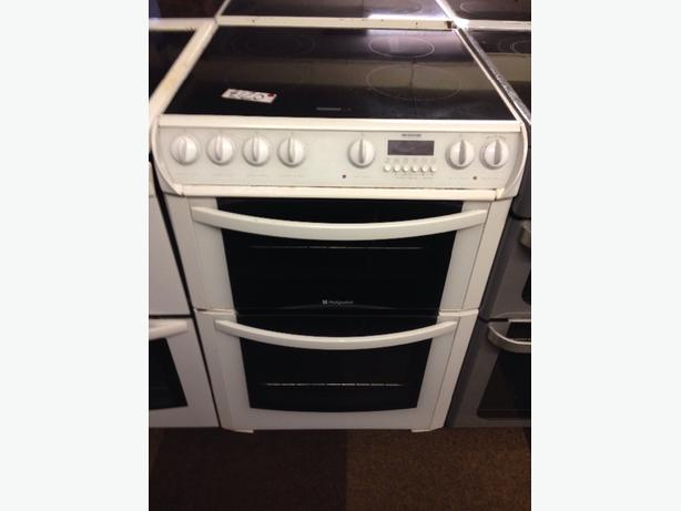 HOTPOINT DOUBLE OVEN FAN ASSISTED ELECTRIC COOKER