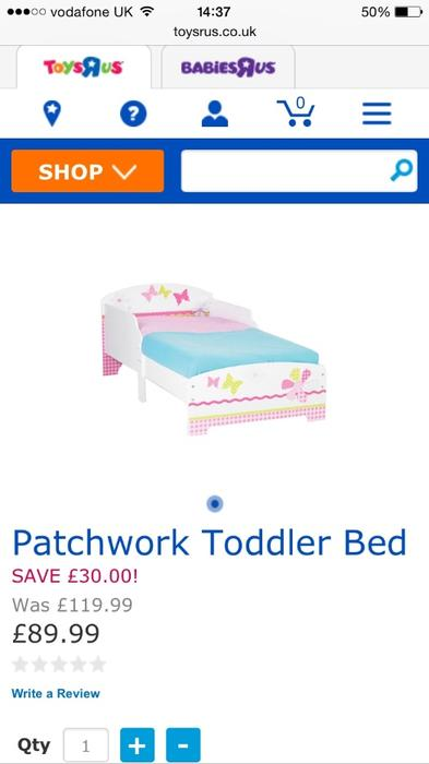 Girls Patchwork Toddler Bed Outside Black Country Region