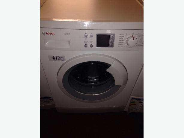 BOSCH LOGIXX LCD 8KG WASHING MACHINE WHITE
