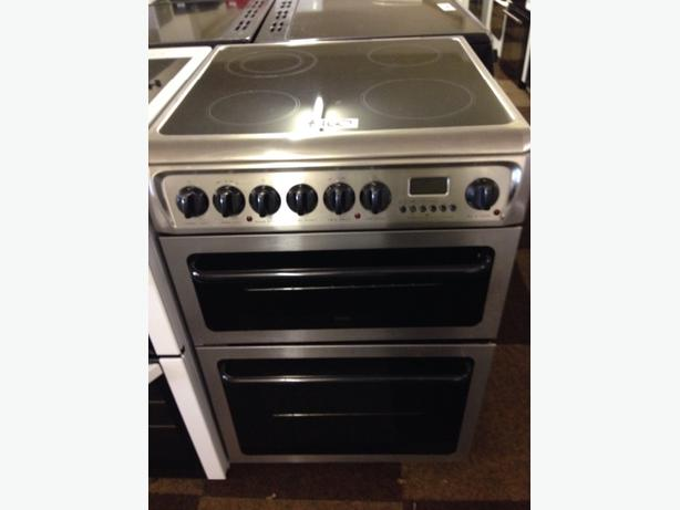 HOTPOINT 60 DOUBLE OVEN FAN ASSISTED  ELECTRIC COOKER