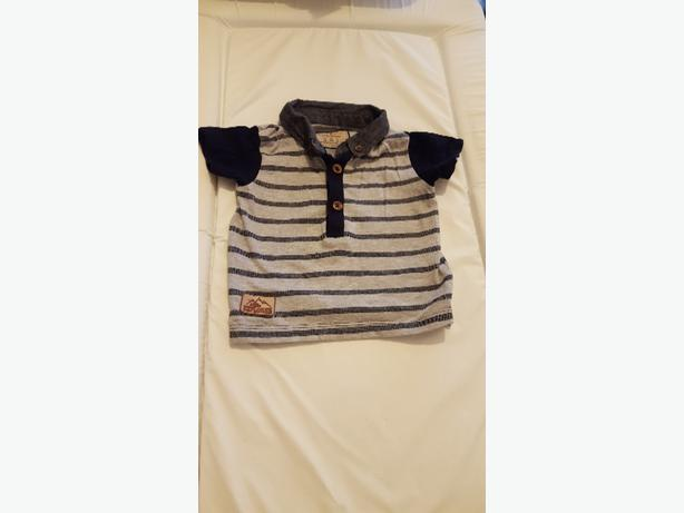 Baby's Grey and Navy Polo Shirt (3-6months) £1.50
