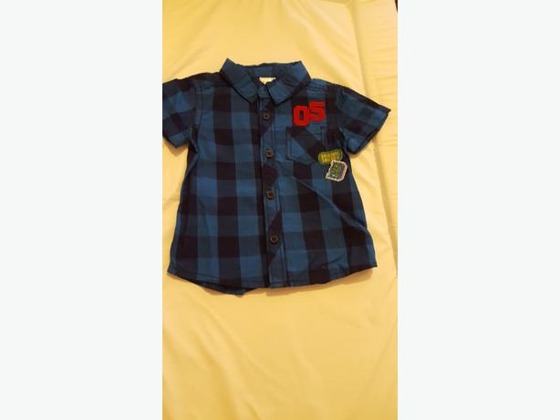 Baby's Blue Checked Shirt (0-3 months) £5