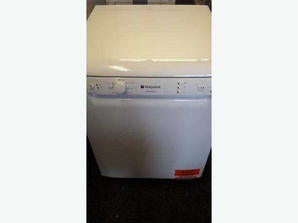 New White full size 60cm hotpoint Aquarius dishwasher