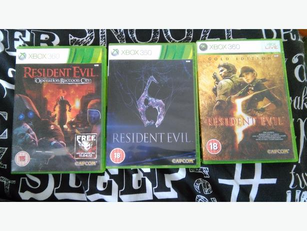 resident evil 5,6 and operation racoon city.