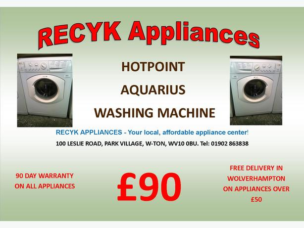 HOTPOINT AQUARIUS WASHING MACHINE WITH FREE DELIVERY IN WOLVERHAMPTON