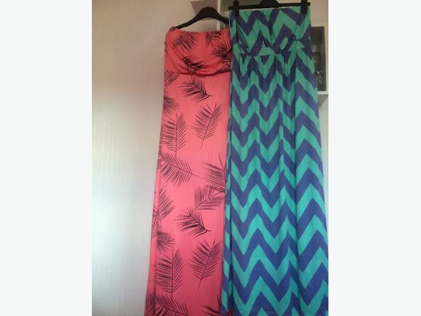 two maxi dresses