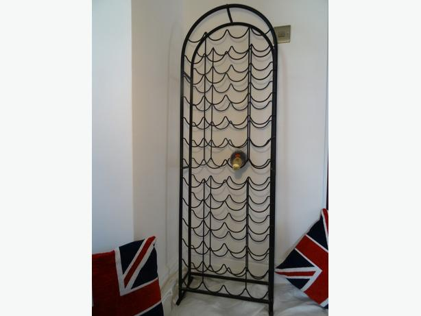 Vintage French Industrial Style Large Hand Made Wrought Iron Arched Wine Cellar