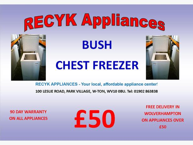 BUSH CHEST FREEZER IN GOOD CONDITION WITH GUARANTEE