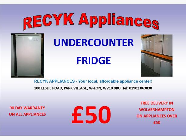 UNDERCOUNTER FRIDGE WITH GUARANTEE AND FREE DELIVERY IN WOLVERHAMPTON