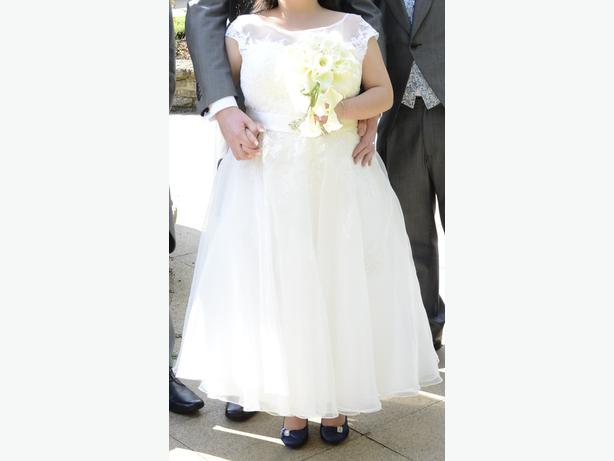 *****Tea Length Wedding Dress Size 18-20*****