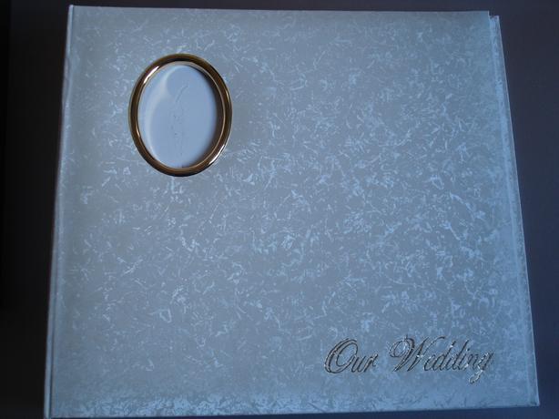 Wedding Photo Albumn, Cream Leather £30. (B)