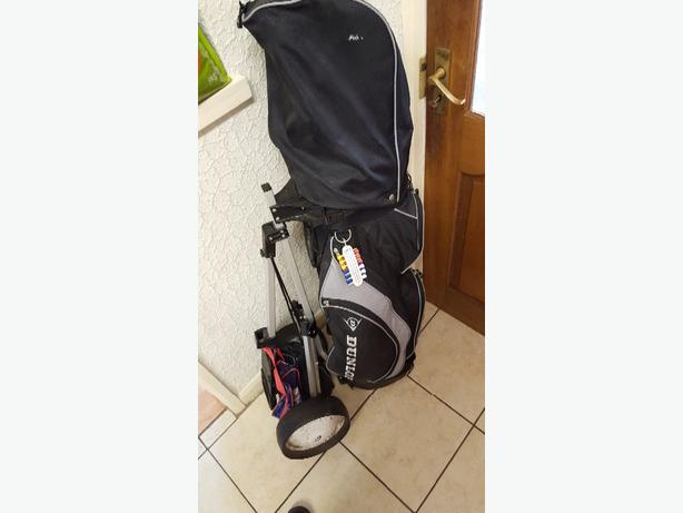 Dunlop golf set with trolley