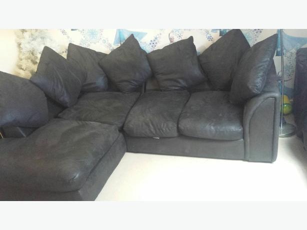 black fabric corner sofa for sale dudley dudley. Black Bedroom Furniture Sets. Home Design Ideas