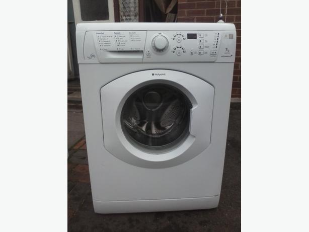 digital 7kg hotpoint aquarius washing machine