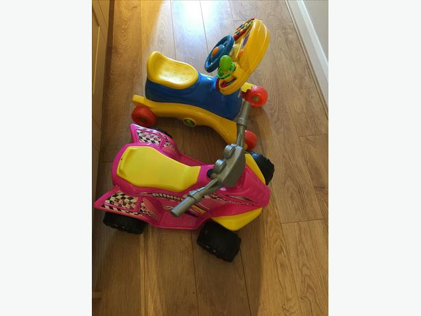Pink scooter and vtech sing &ride