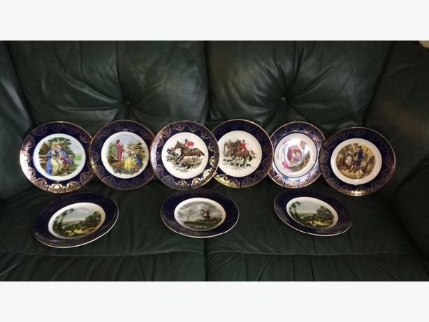 Nine 10 inch wood and sons burslem england plates