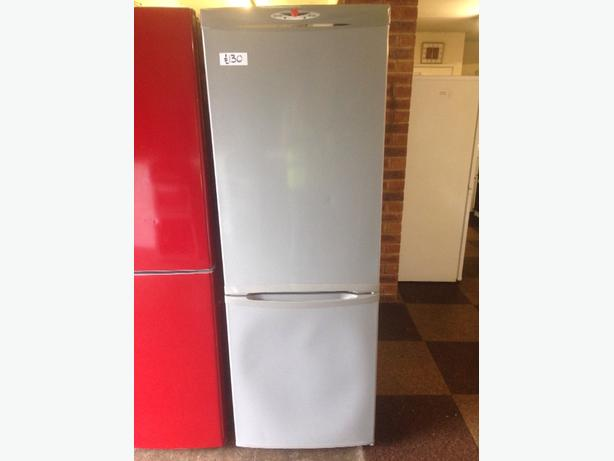HOOVER FROST FREE SILVER FRIDGE FREEZER