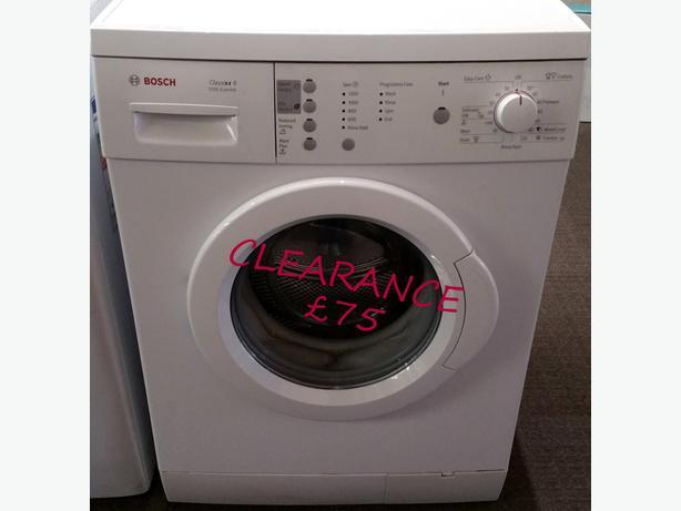 **CLEARANCE** BOSCH WASHING MACHINE + WARRANTY