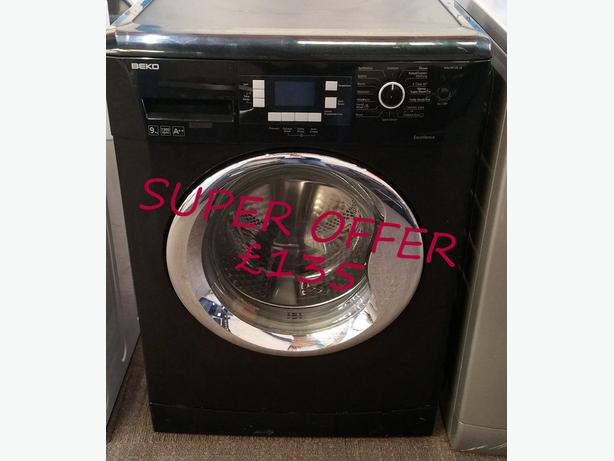 **SUPER OFFER** BEKO BLACK 9KG WASHING MACHINE + WARRANTY