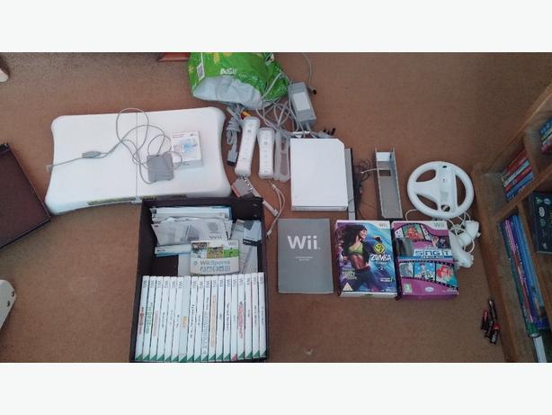 wii + accessories + games
