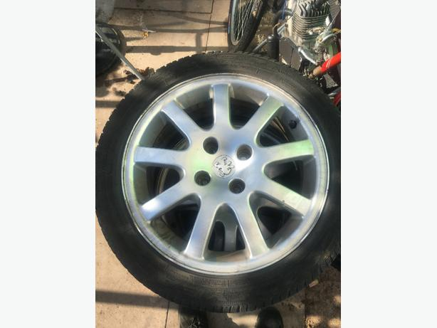 set of 4 pug alloys