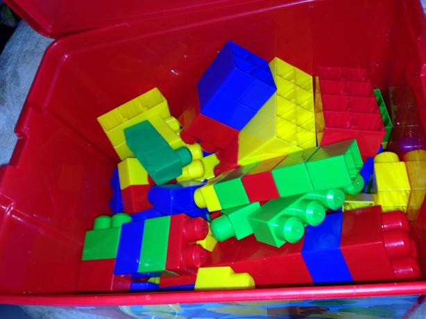 mega blocks in box with lid