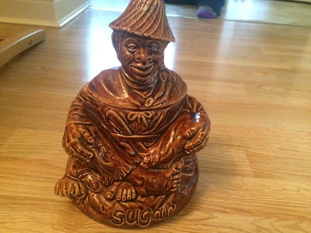 antique (vintage sadler sugar pot rare)