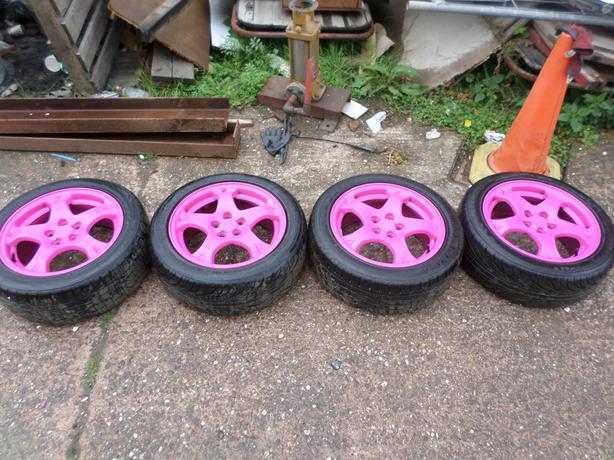 "subaru impreza pink alloys 16"""