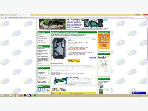 Blagdon maylfy 1000 litre pond