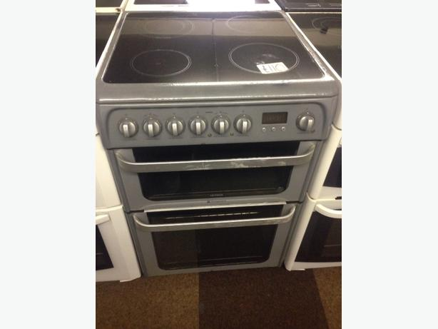 HOTPOINT ELECTRIC COOKER DOIBLE OVEN FAN ASSISTED