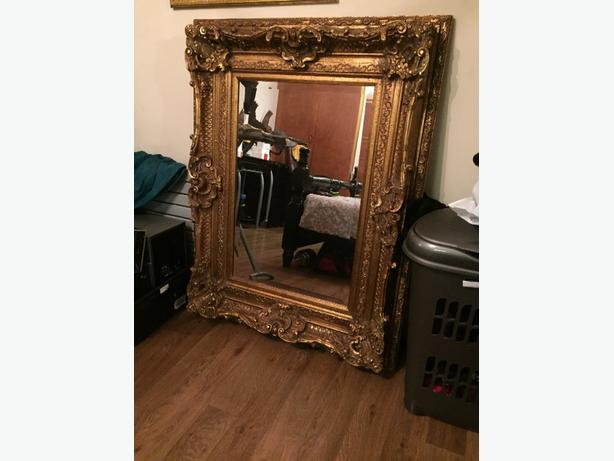chunky gold mirror